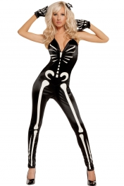 Sexy Glow Skeleton Costume